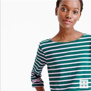 J. Crew• Sailor-stripe boatneck T-shirt